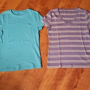 Lot if two Tommy Hilfiger tee shirts. Both size L